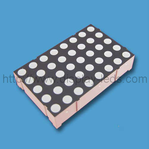 1,4 inci 5x8 LED warna LED dot dot bi