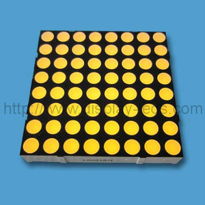 2 inci 8x8 LED Dot Matrix dalam warna Kuning