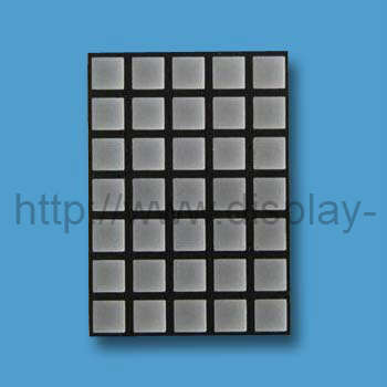 2 inci 5x7 LED Square Dot Matrix